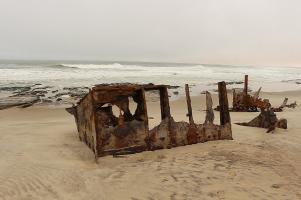 Das Schiffswrack nördlich von Henties Bay war nicht so der Brüller...