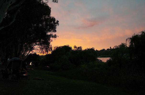 Der kommende Tag verspricht schönes und vor allem heißes Wetter am Murray River.
