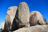 Die Pyramide Rocks im Australischen Granitgürtel sehen nicht so aus, als wenn man sie besteigen könne, mit einiger Anstrengung geht es doch.
