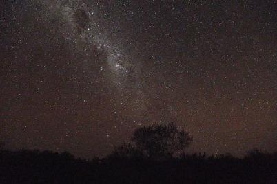 Später sitzen wir unterm Sternenzelt.