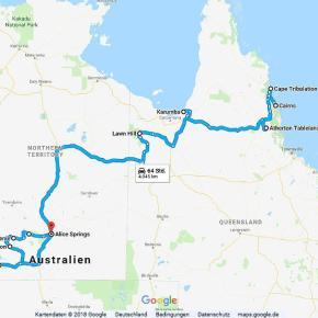 Australien Statistik Teil 11, Cairns - Alice Springs