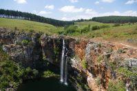 In der Trockenzeit geben die Wasserfälle im Transvaal nicht viel her.