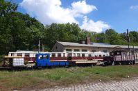 … und ein interessantes Eisenbahnmuseum. An den Wocheneden verkehren hier noch Züge.