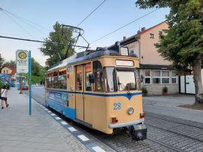 Die Historische Straßenbahn in Woltersdorf fährt noch im regulären Linienverkehr.