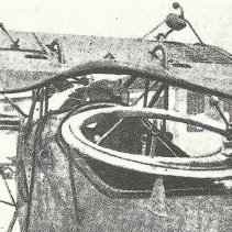 Cockpit des Beobachters und Heckschützen mit dem MG-Ring