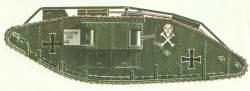 Mark IV als deutscher 'Beutepanzerwagen'