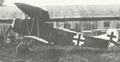 Seitenaufnahme der Fokker D.VII