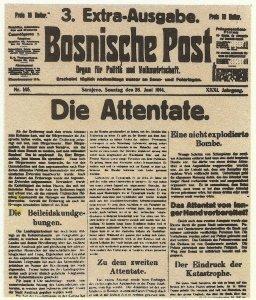 Sonderausgabe der 'Bosnischen Post'