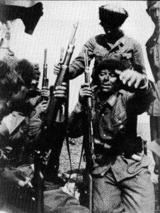 Russische Kosaken im Dienst der Wehrmacht.