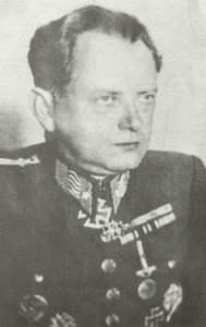 Generalmajor Agust Malar, Befehlshaber der slowakischen Schnellen Division