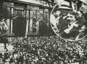 Hitler bei der Mobilmachung 1914