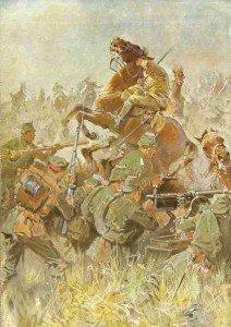 Vernichtung der englischen Kavalleriebrigade bei Maubeuge