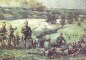Deutsche Truppen an der Ostfront.