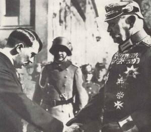 Reichskanzler Hitler und Reichspräsident Hindenburg