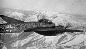 Ju 88 A-4 in der Überführung nach Italien