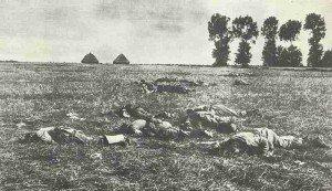 Gefallene Russein in der Schlacht an den Masurischen Seen