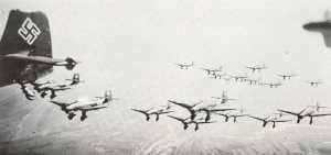 Schwarm Stukas Ju 87 B,