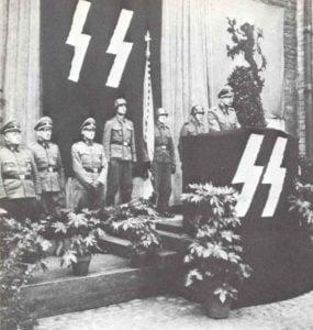 Verabschiedung flämischer SS-Freiwilliger