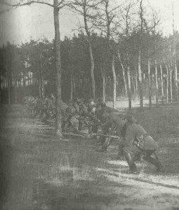Deutsche Truppen während eines Angriffs