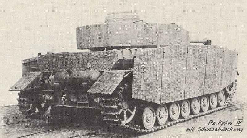 Rückansicht des Panzer IV Ausf H