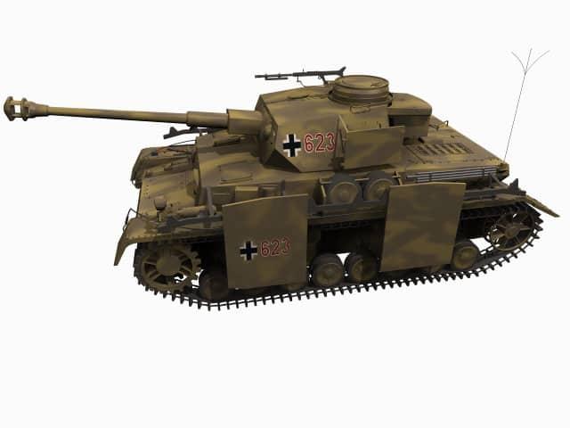 3D-Modell Panzerkampfwagen IV Ausf. H