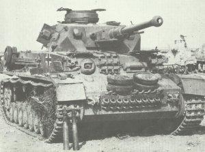 in Nordafrika von britischen Truppen erbeuteter PzKpfw IV Ausf.F2