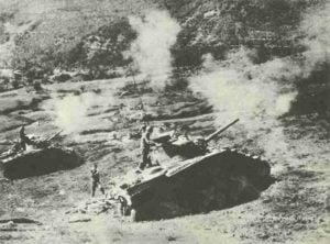 Shermans beschießen Goten-Linie