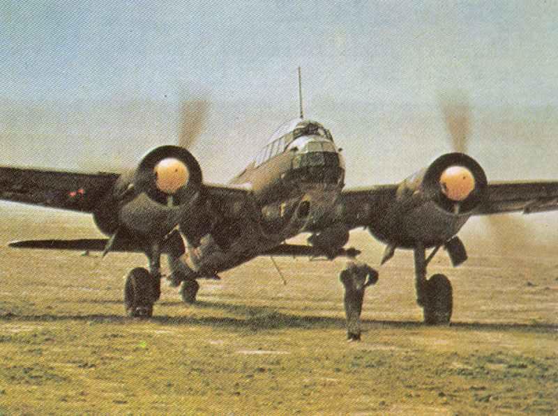 Ju 88 bei einem der ersten Einsätze