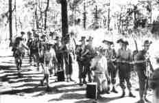 Britische und Ghurka-Truppen in Burma
