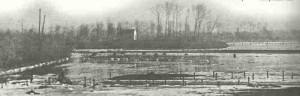 Geflutetes Land in Belgien 1914