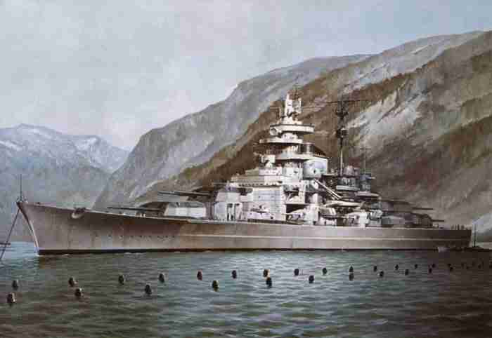 Tirpitz in Norwegen