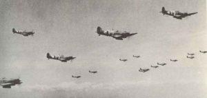 Spitfire-Verband über der Normandie 1944