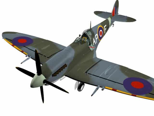 3D-Modell Spitfire Mk IX