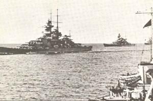 Schlachtkreuzer Gneisenau und Scharnhorst
