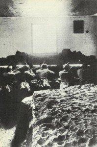 Deutsche Infanterie im Gefecht an der Ostfront.
