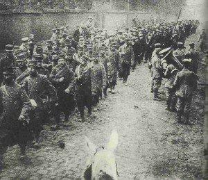 Französische Kriegsgefangene 1914