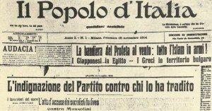 Il Popolo d'Italia vom November 1914