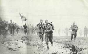 Deutscher Angriff bei Langemarck 1914