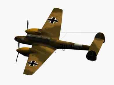 3d-Modell Bf 110