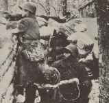 Russische Infanterie Karelische Landenge