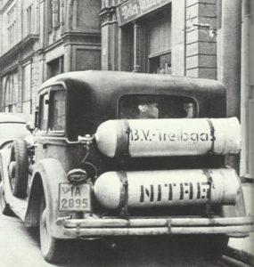 Auto mit Treibgas