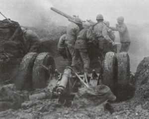 US-Flak schiesst auf deutsche V-1