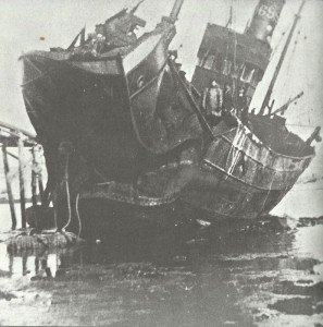 Mine hat Bug von Schiff zerstört