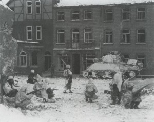 Truppen 7. US-Panzerdivision in St. Vith