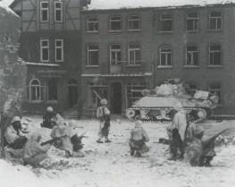 Truppen 7. US-Panzerdivision in St. Vith