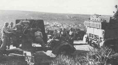 88-mm-Flak der Luftwaffe in Tunesien