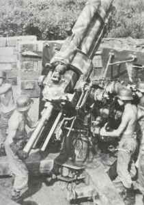 88 mm Flak 37 im Einsatz als Flugabwehrgeschütz