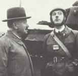 Oberst De Gaulle mit Staatspräsident Lebrun