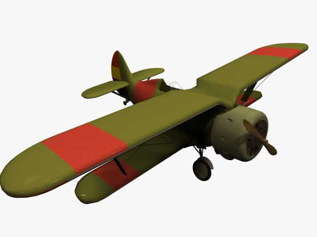 3d-Modell Polikarpow I-15 Chato