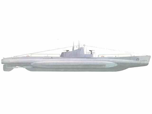 Russisches Unterseeboot Schtscha-Klasse.